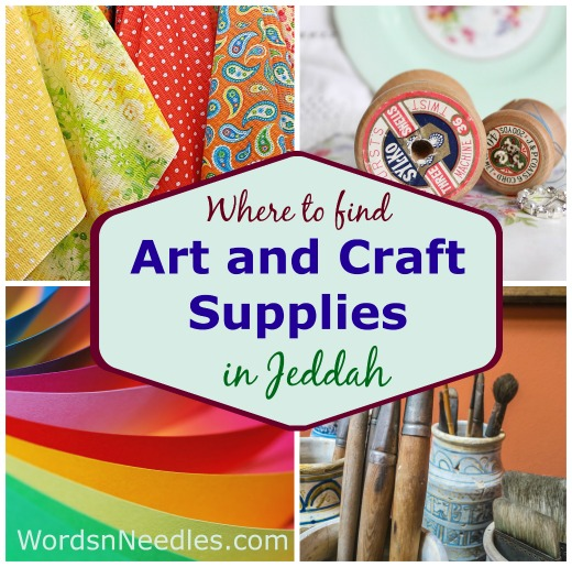 arts and craft supplie in jeddah wordsnneedles