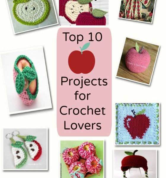 DIY back to school fall apple themed apple projects for crochet lovers wordsnneedles