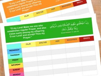 Prayer charts namaz chart JeddahMom