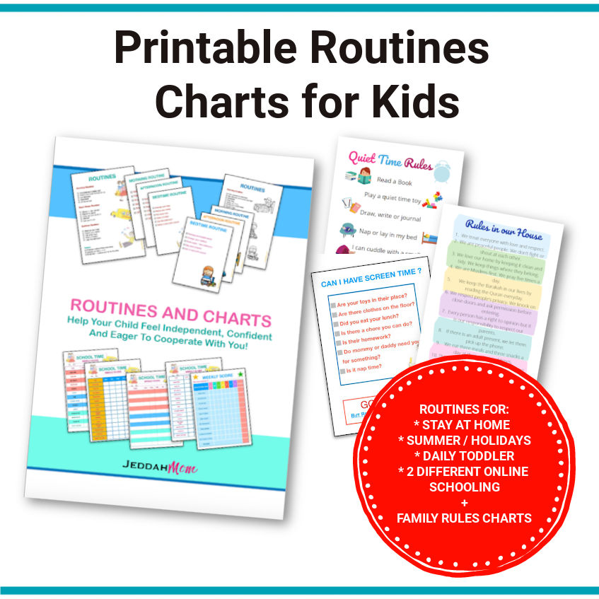 printable daily routine charts for kids