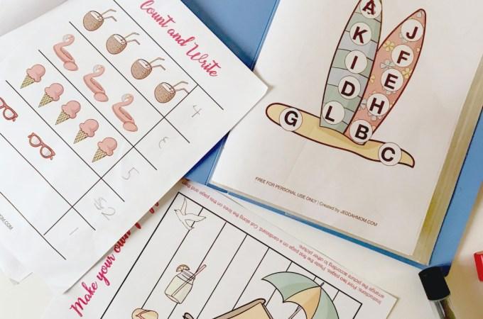 Summer Activity Pack for Kindergarten and Preschool JeddahMom