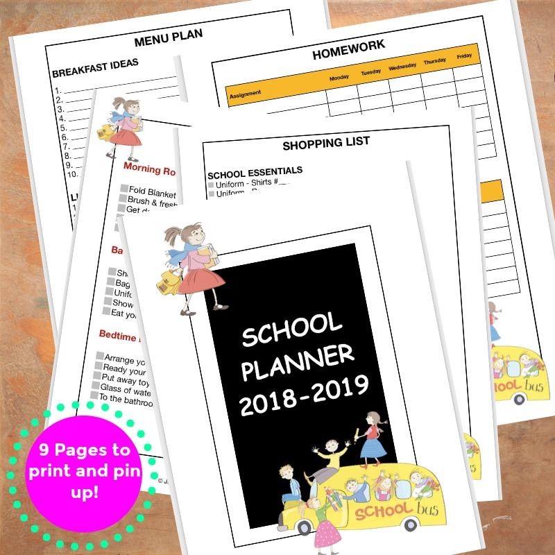 Back to School Planner Jeddah MOm