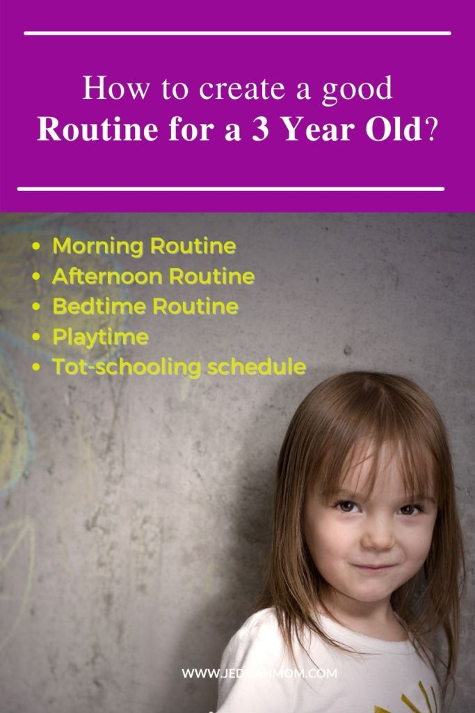 How to create a good toddler routine for your 3 year old child at home