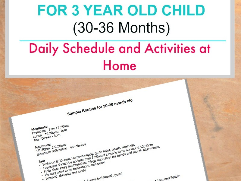 Sample routine for 3 year old child daily schedule and rhythms JeddahMom