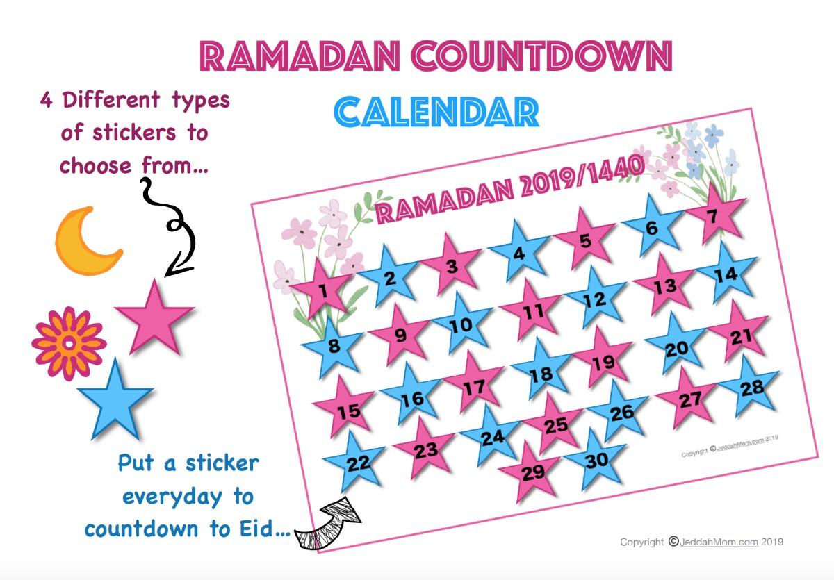 Free Printable Ramadan Calendar JeddahMOm