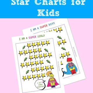 Reward chart Star Chart for Kids Super Hero | JeddahMom