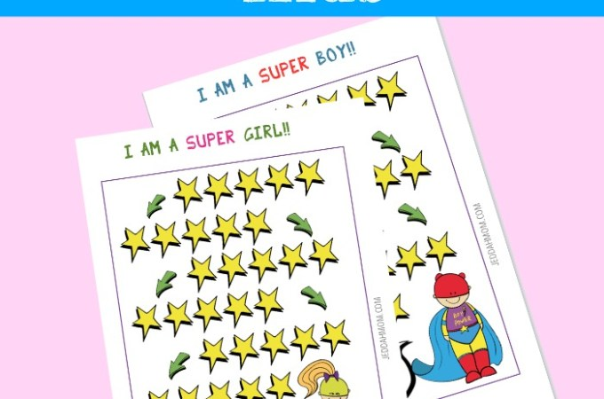 Reward chart Star Chart for Kids Super Hero   JeddahMom