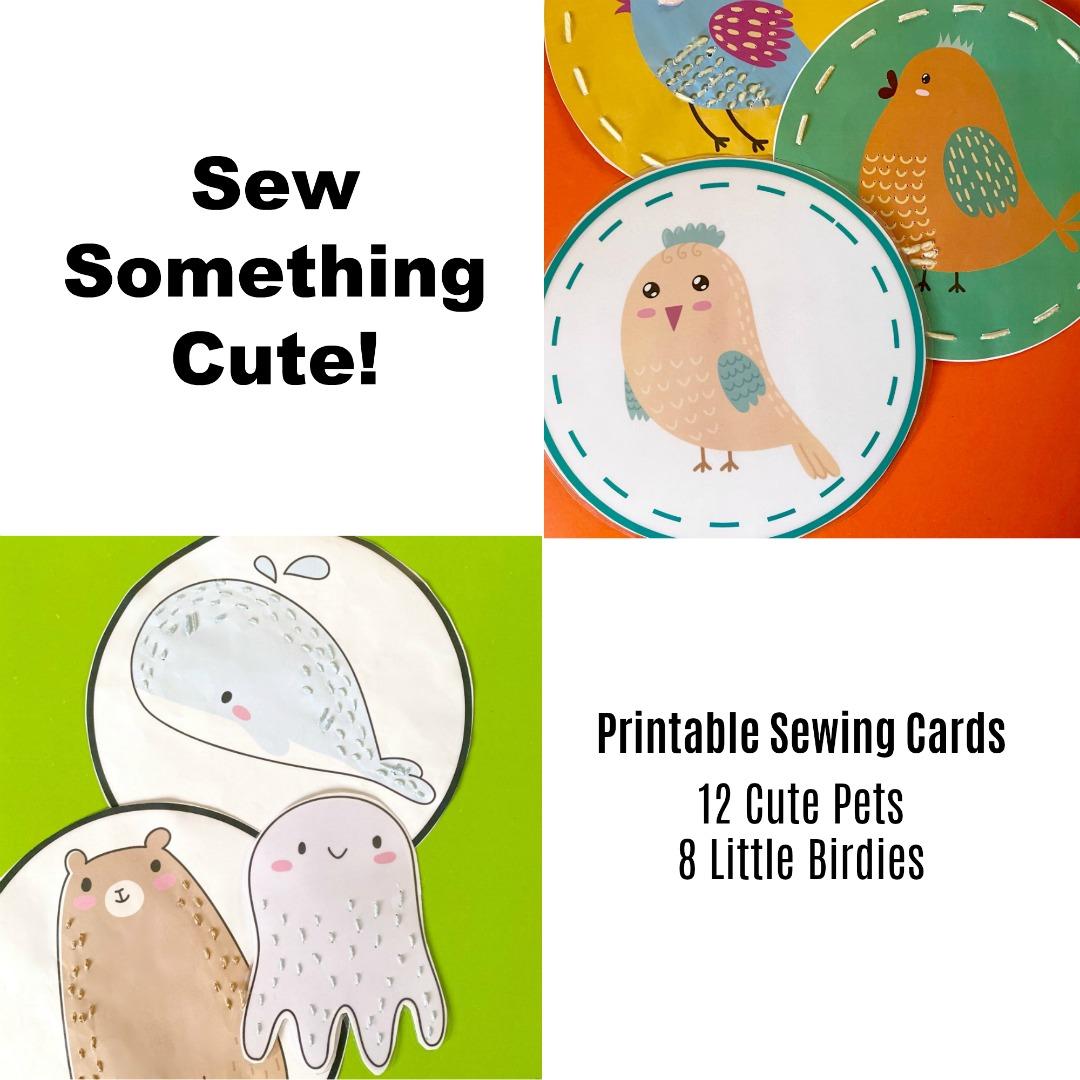 Sew Something Cute Sewing Cards | Jeedah