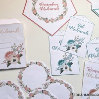 Free Printable Ramadan and Eid Decorations Pack : Floral themed