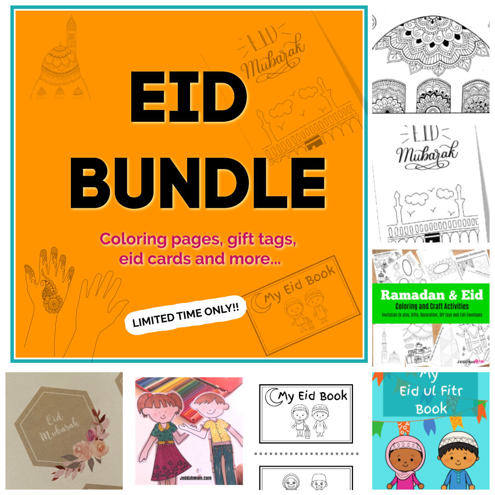 eid bundle envelopes gift tags cards| jeddah mom