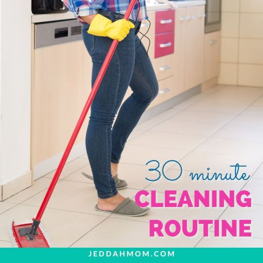 30 minute speed clean your home routine