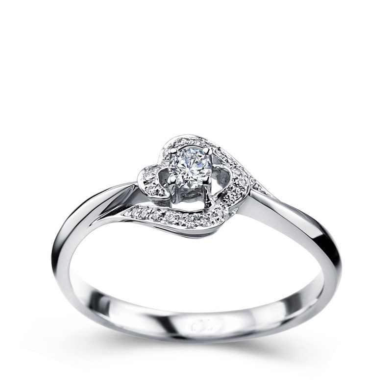 Wonderful Diamond Wedding Ring Band For Women In White