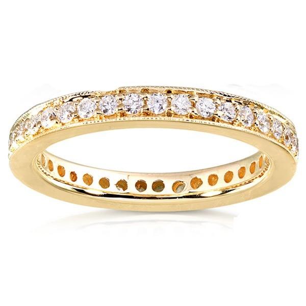 Antique Design Round Diamond Wedding Band For Women In