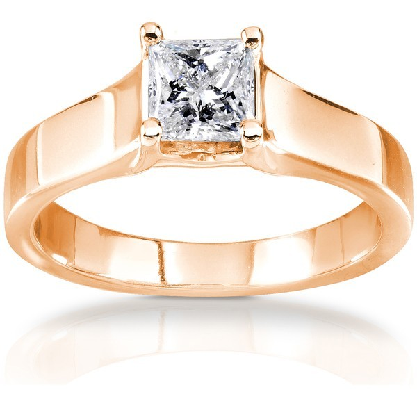 Glorious Cathedral Solitaire Wedding Ring Half Carat