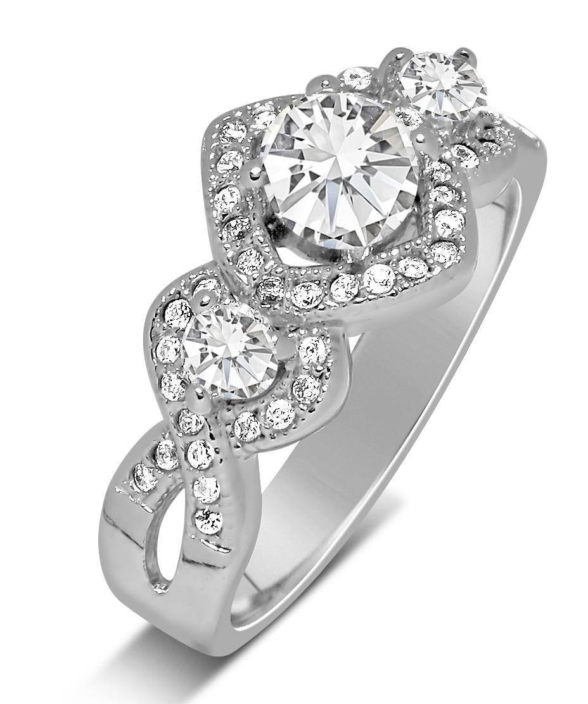 Unique Trilogy 1 Carat Infinity Round Diamond Engagement