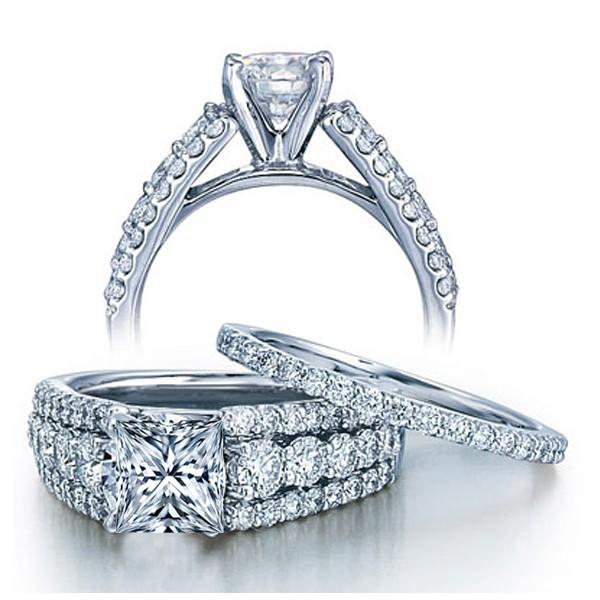 2 Carat Princess Cut GIA Certified Diamond Designer