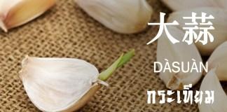กระเทียม ภาษาจีน