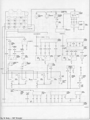 87 YJ gauge cluster wiring diagram  JeepForum