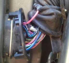 Driver Door Wiring Connector