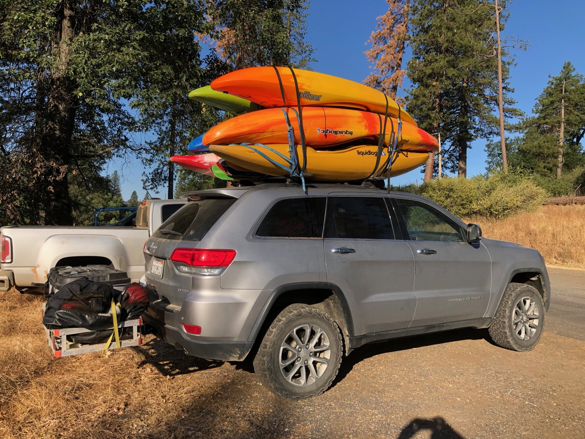 bed rack storage for kayaks jeep