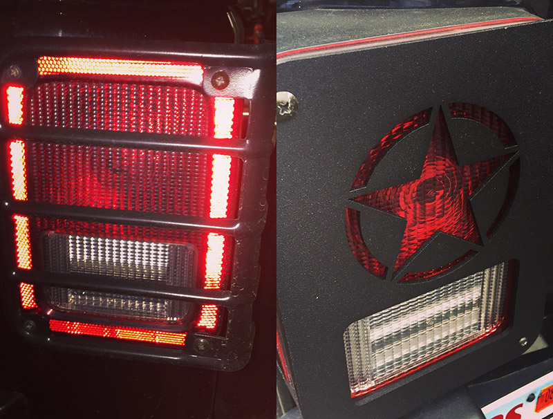 DNA JEEP TAIL LIGHT COVERS COMPARED TO RUGGED RIDGE GRILL COVER