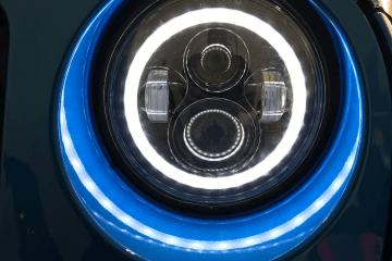 "SELO Pair 7"" LED Headlight with Halo Angel Eye Ring"