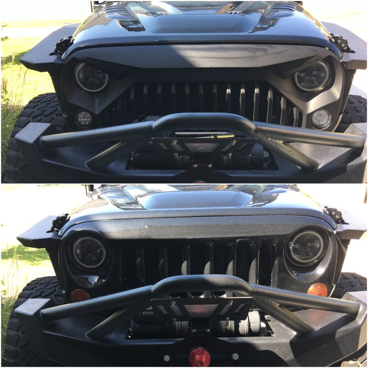 Xprite Grille & Turn Signal Before and After