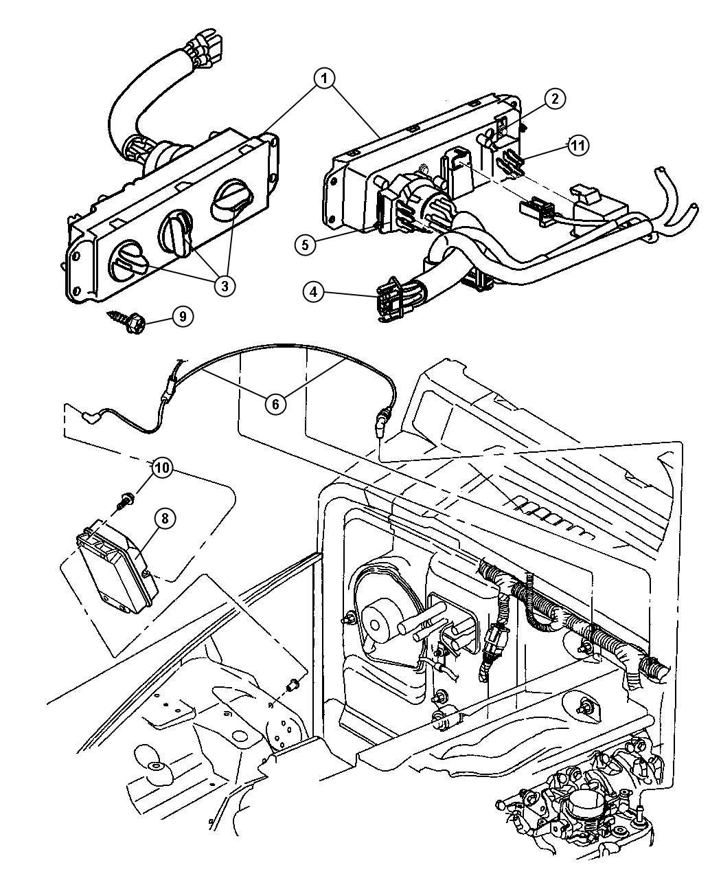 Jeep Wrangler Hose And Valve Vacuum Heater Air