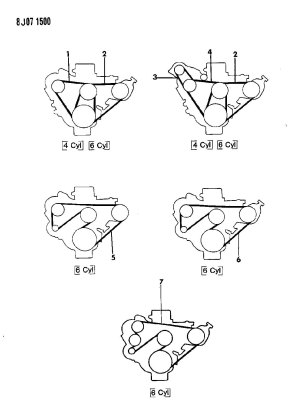 1990 Jeep Cherokee Serpentine Belt Diagram