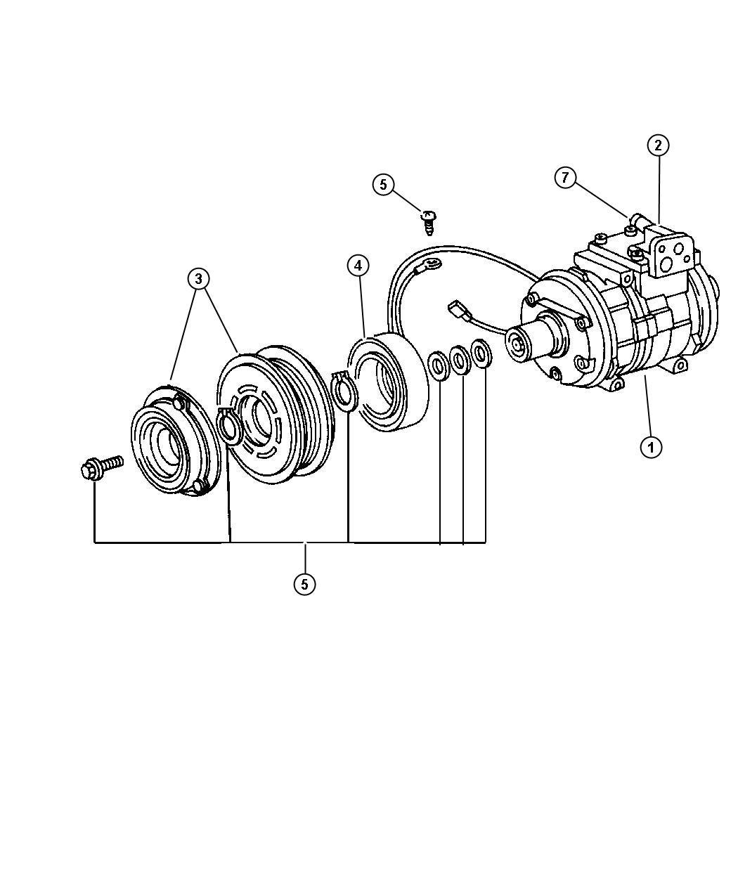 Jeep Grand Cherokee Clutch A C Compressor