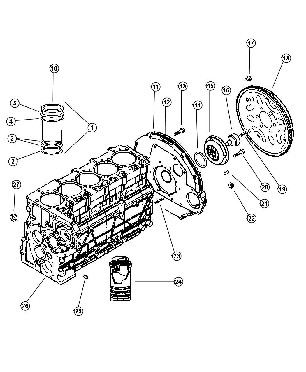 Jeep Grand Cherokee Shim Cylinder Liner 0 17mm Enr Enc