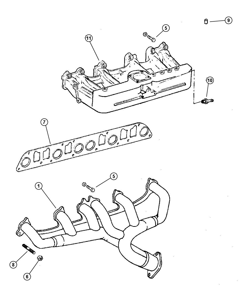 top suggestions jeep wrangler 2 5 engine exhaust manifold diagram :