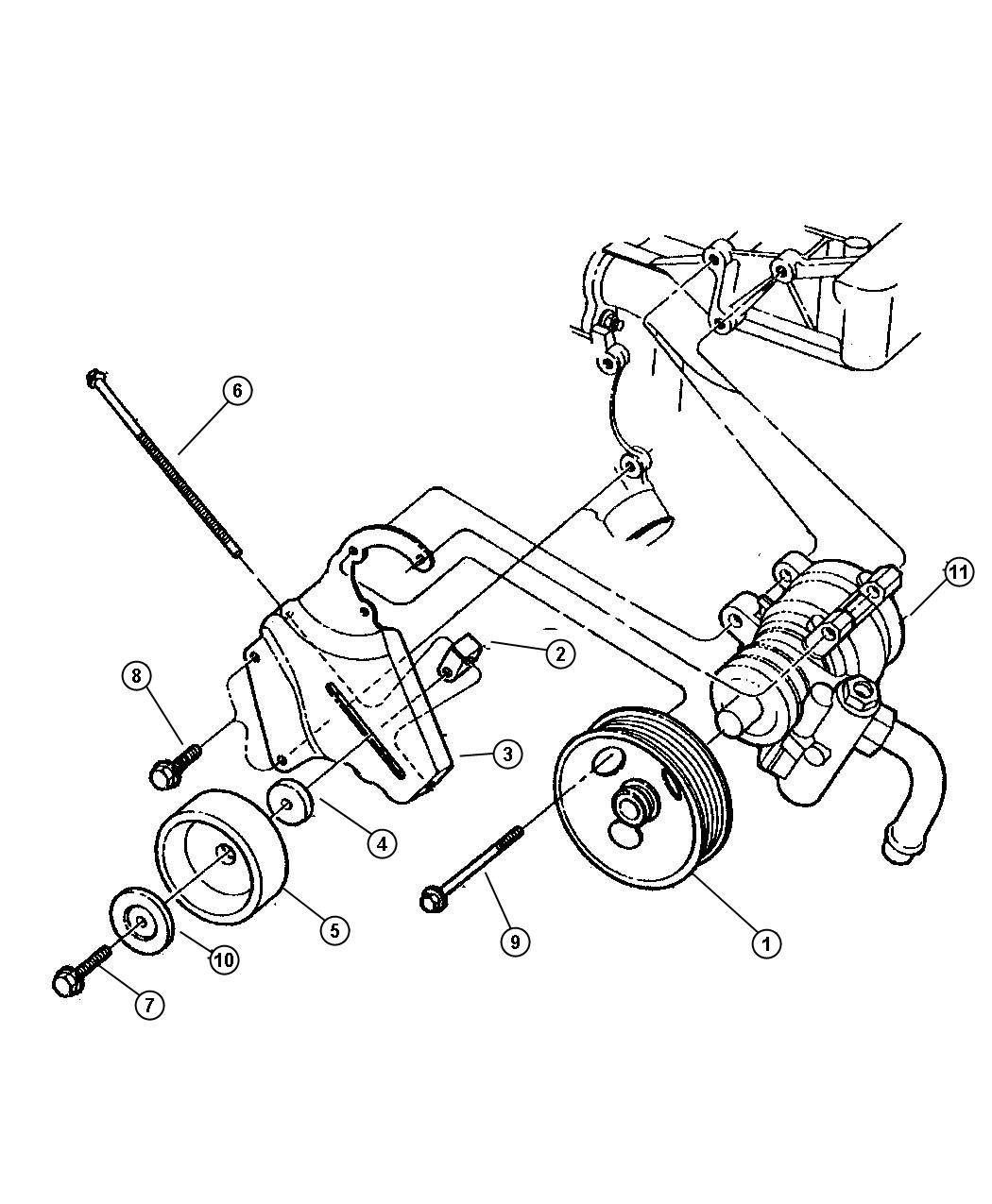 Jeep Cherokee Collar Tensioner Adjustment Engine
