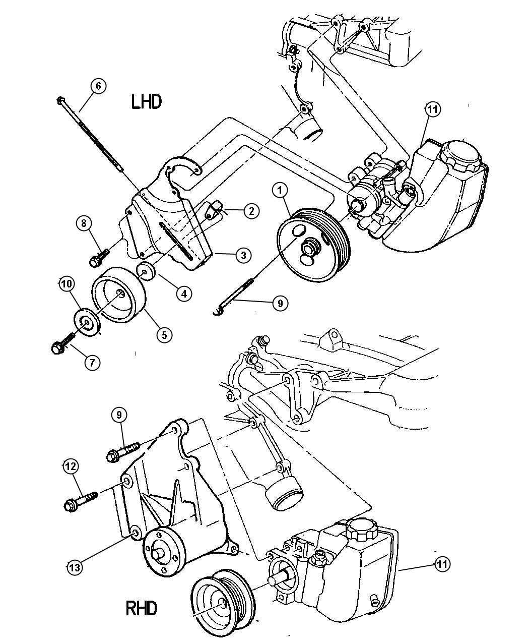 Jeep Cherokee Collar Tensioner Adjustment Engine