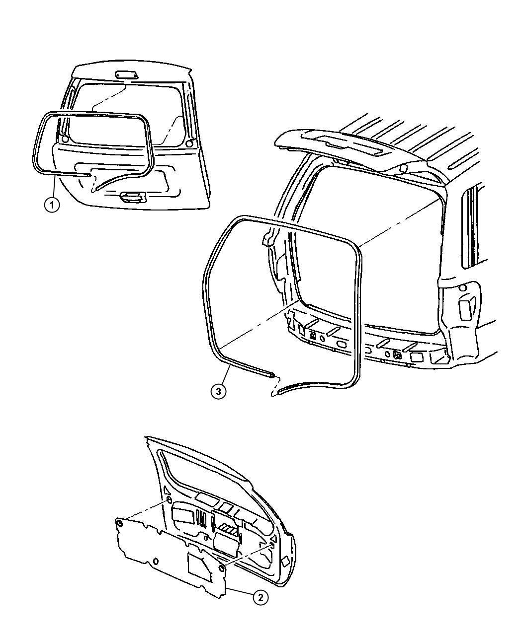 Jeep Wrangler Seal Liftgate