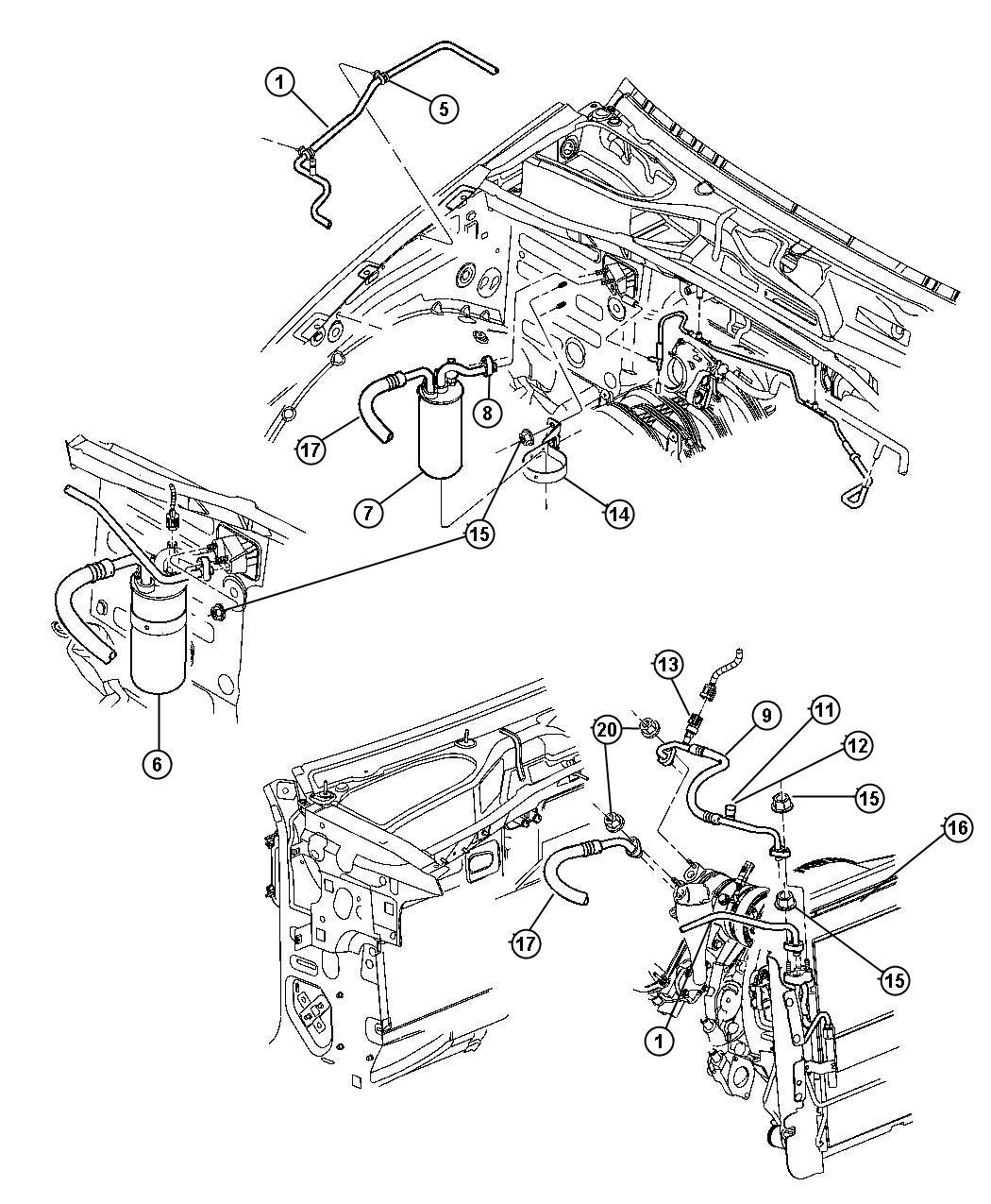 Jeep Liberty Transducer Transducer Kit A C Pressure