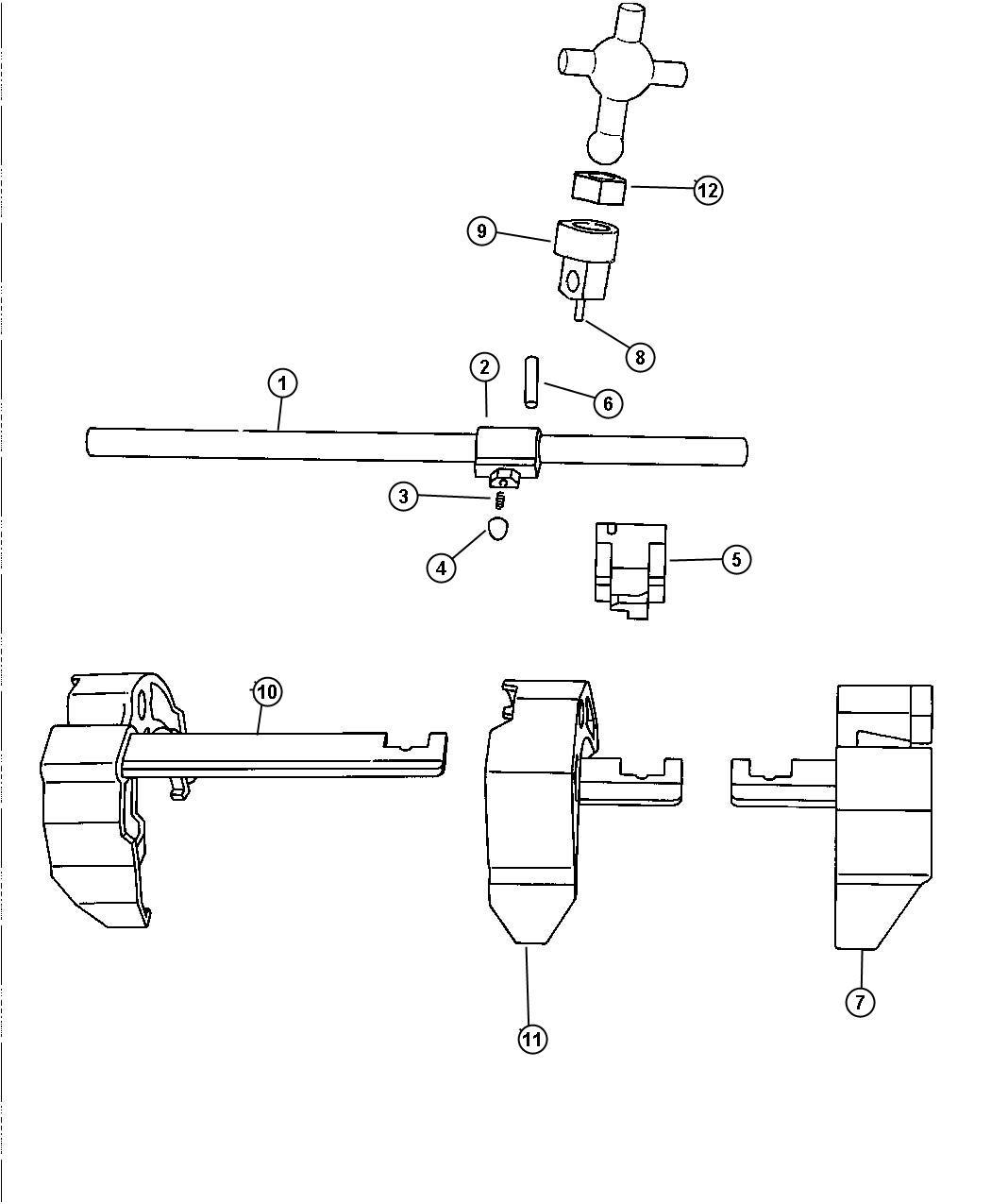 Jeep Wrangler Isolator Shift Lever Fork Transmission