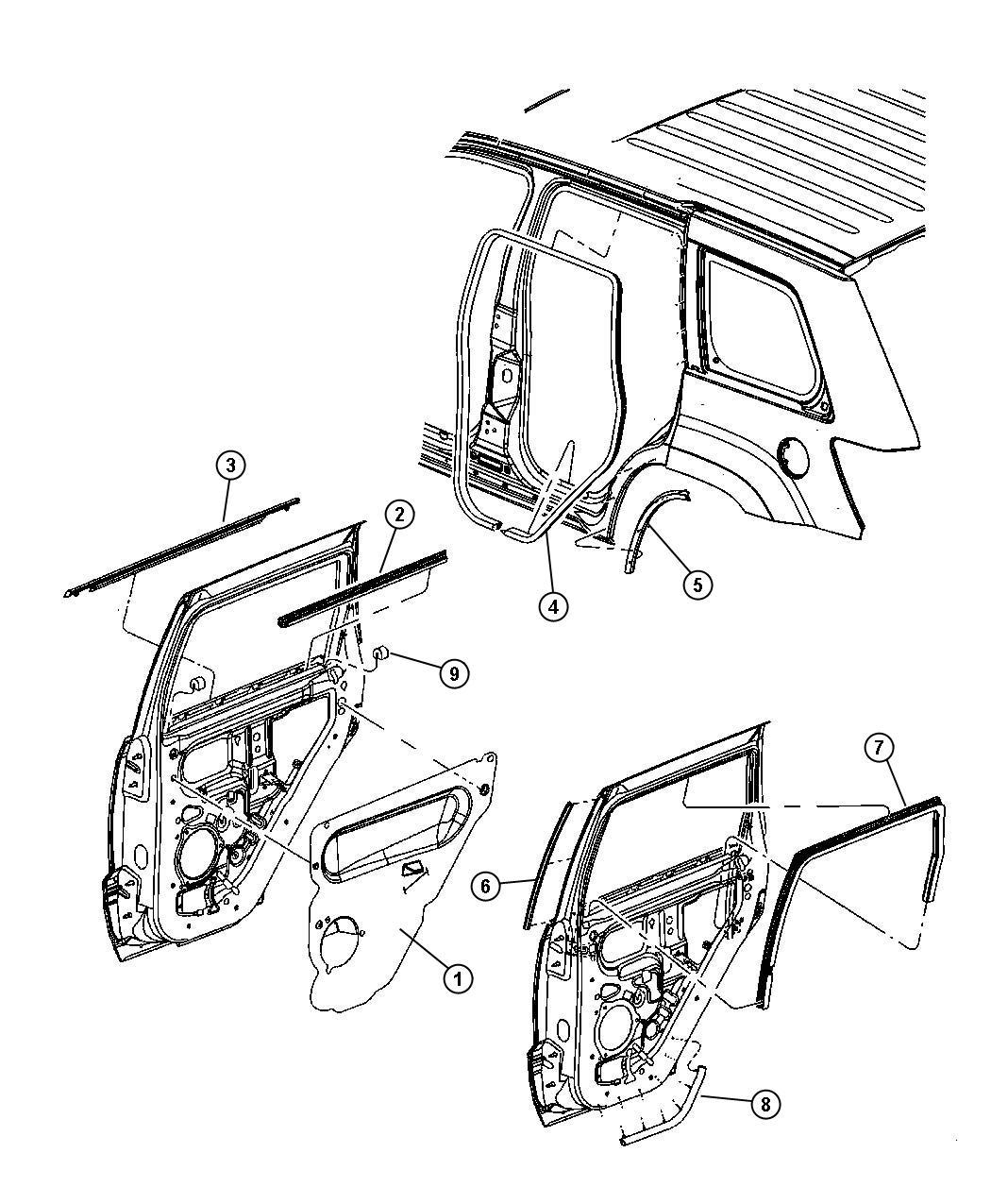 Jeep Grand Cherokee Seal Wheelhouse Right Cutline