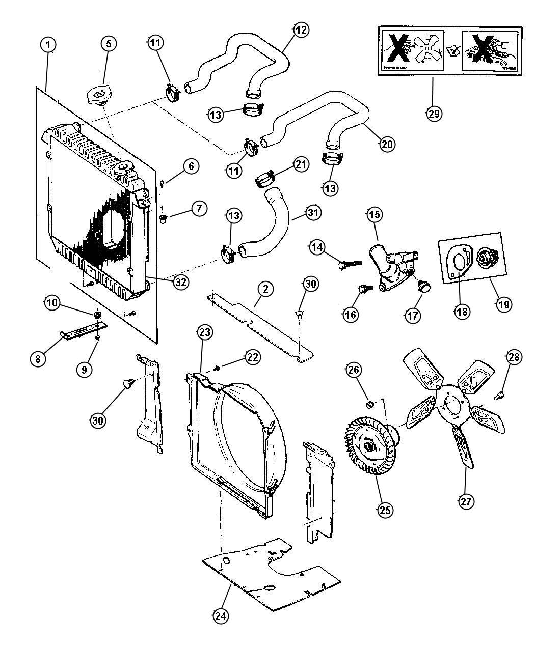 Jeep Cherokee Grommet Radiator Lower Lower Isolator