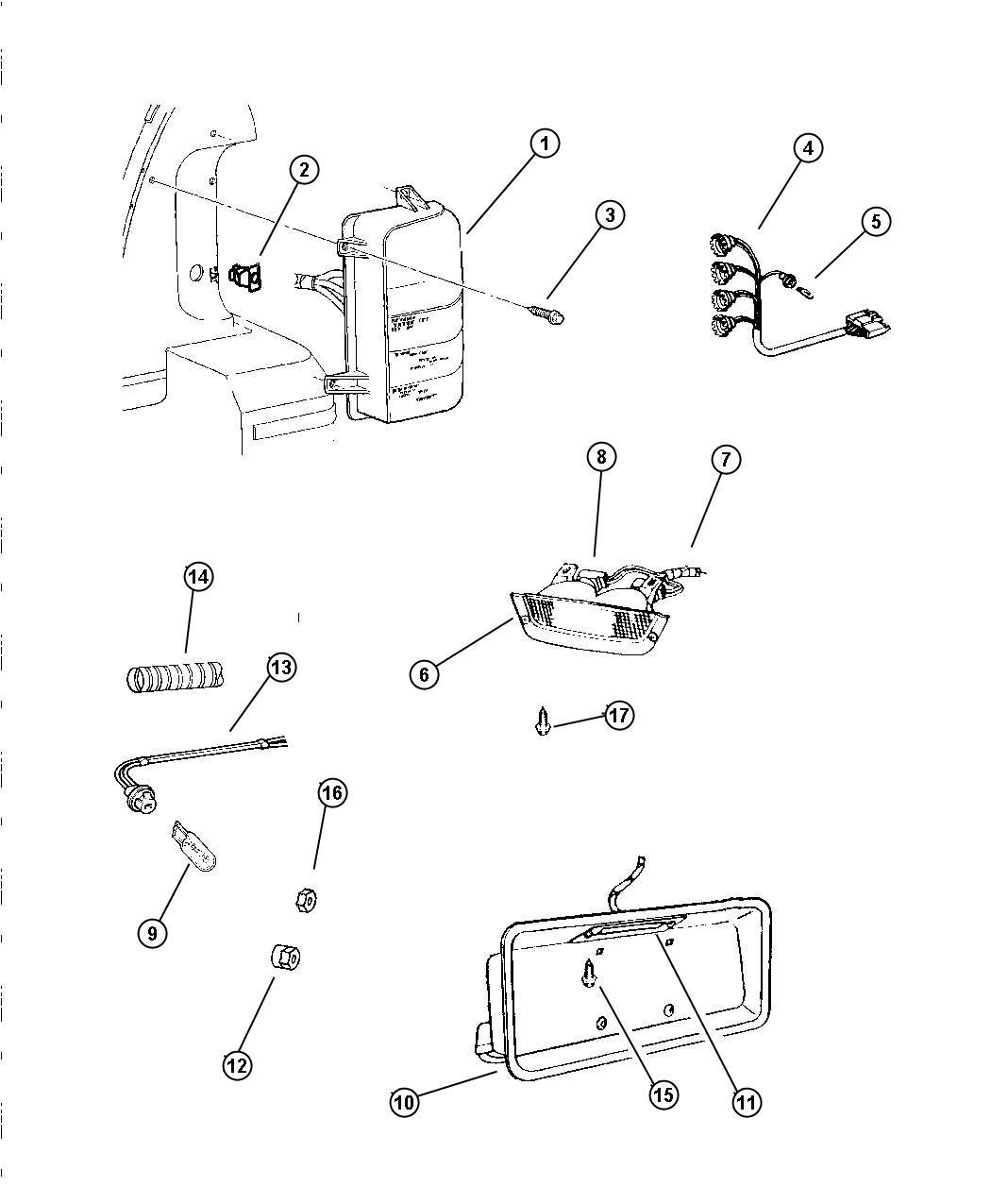 01 Jeep Grand Cherokee Rear Lamp Wiring Diagram Wiring