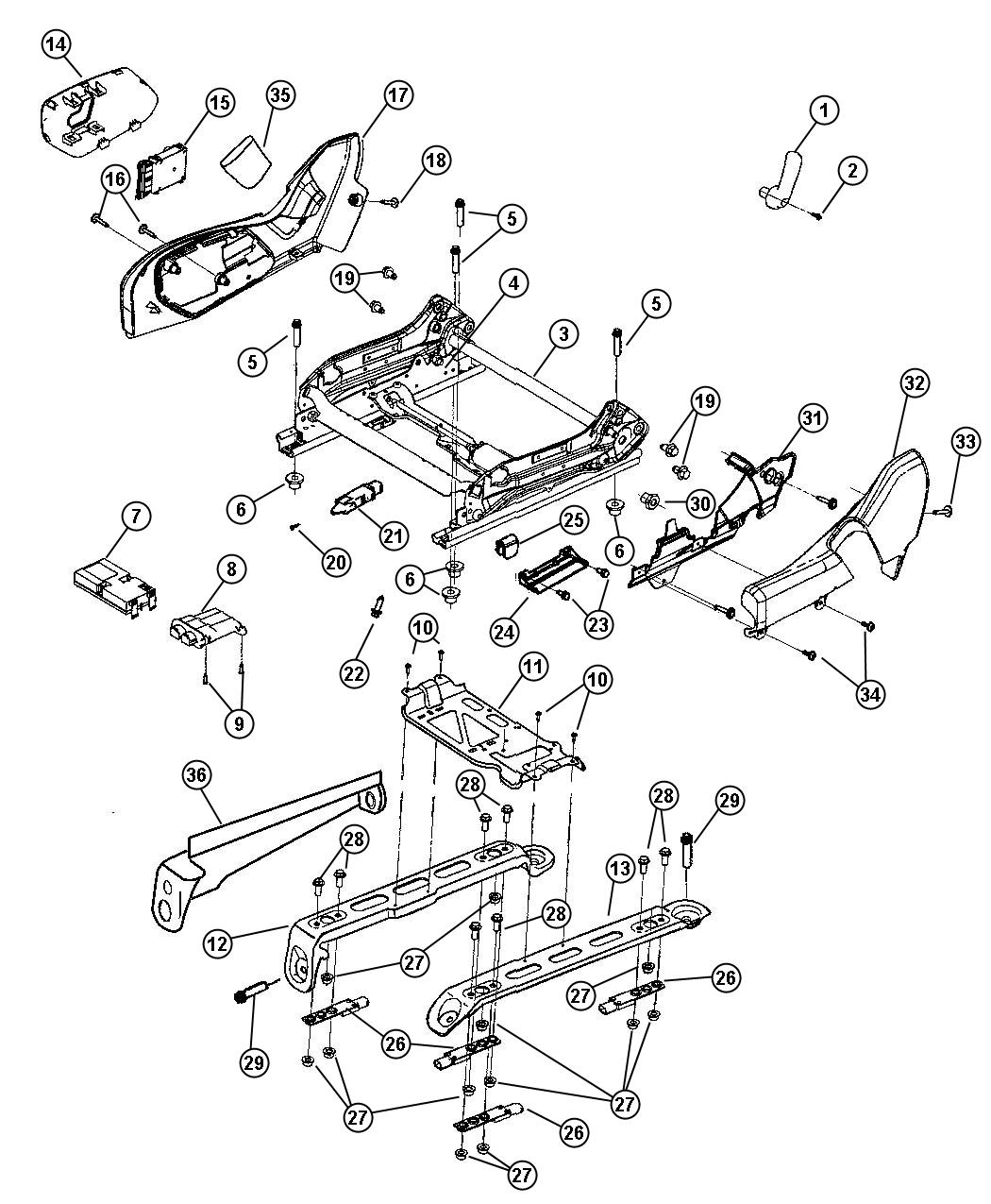 Jeep Grand Cherokee Sensor Kit Strain Gauge Trim Yl Seats Way Heated