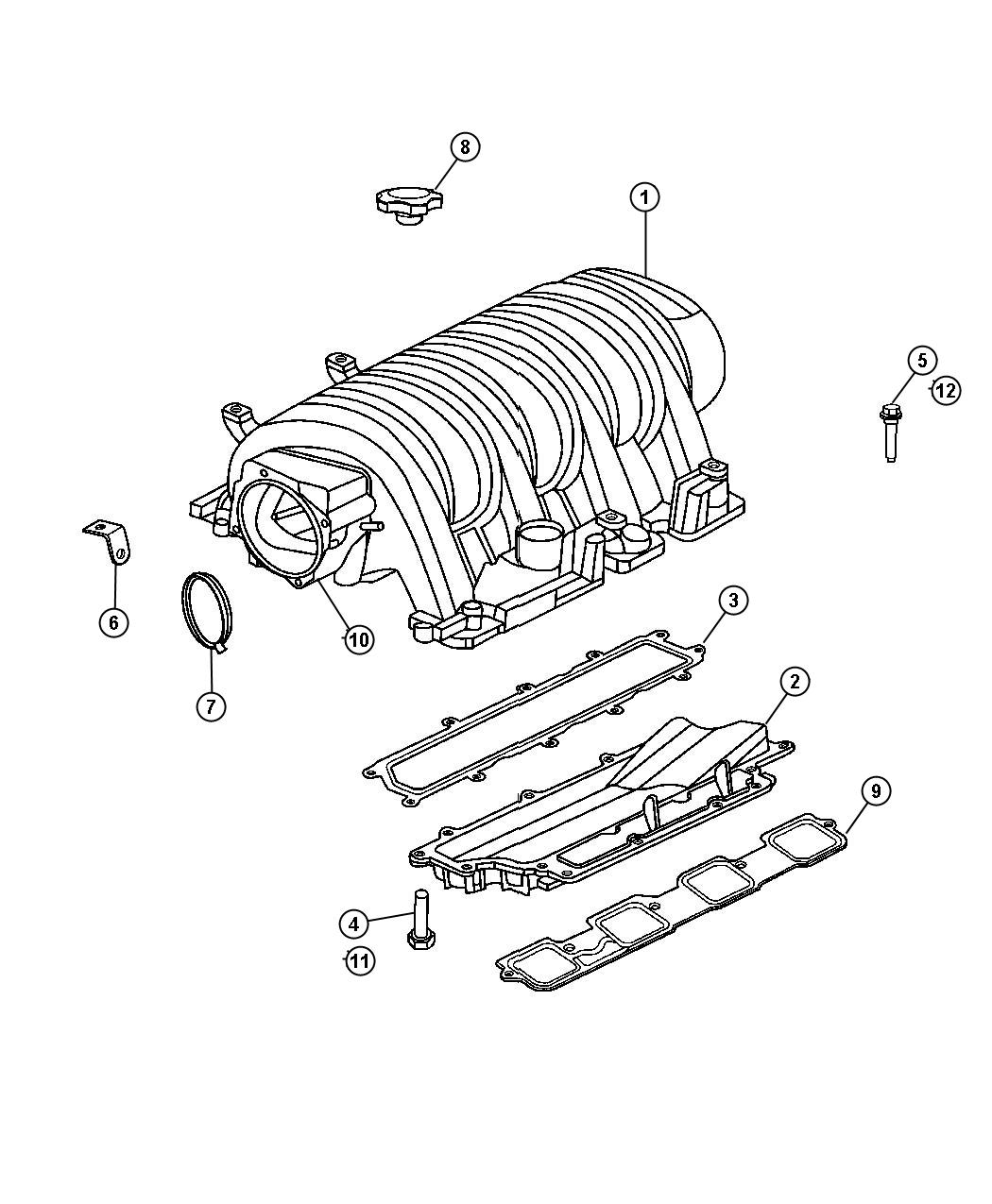 top suggestions parts schematic manifold 5 7 hemi engine :