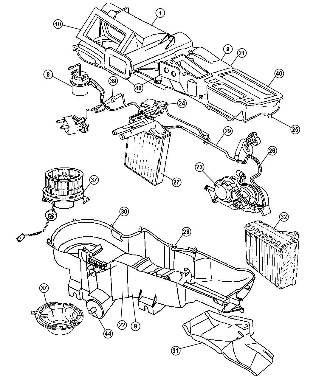 1997 Jeep Wrangler Heater Motor Wiring