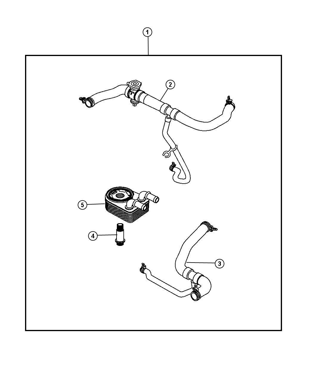 Jeep Patriot Hose Radiator Inlet Engine Cooler Oil