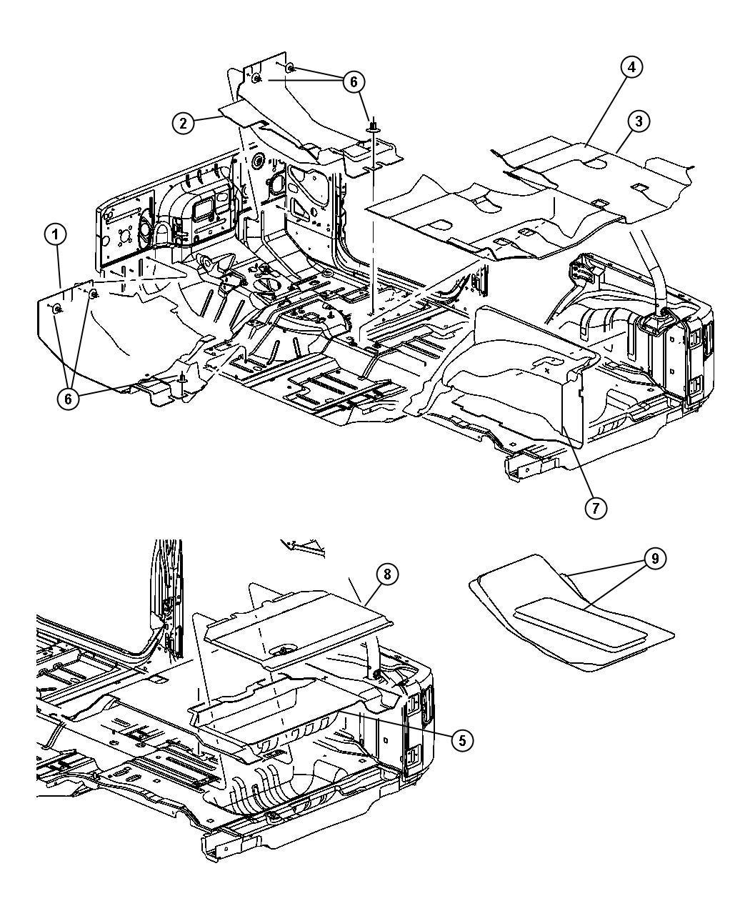 Jeep Wrangler Carpet Cargo Floor Rear Seat Wheelhouse