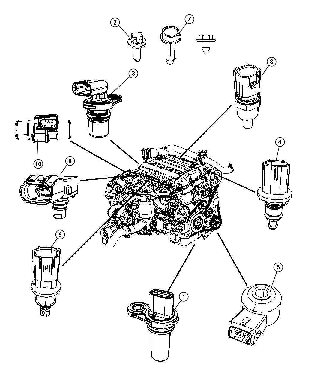 Jeep Patriot Sensor Crankshaft Position Vehicle Speed