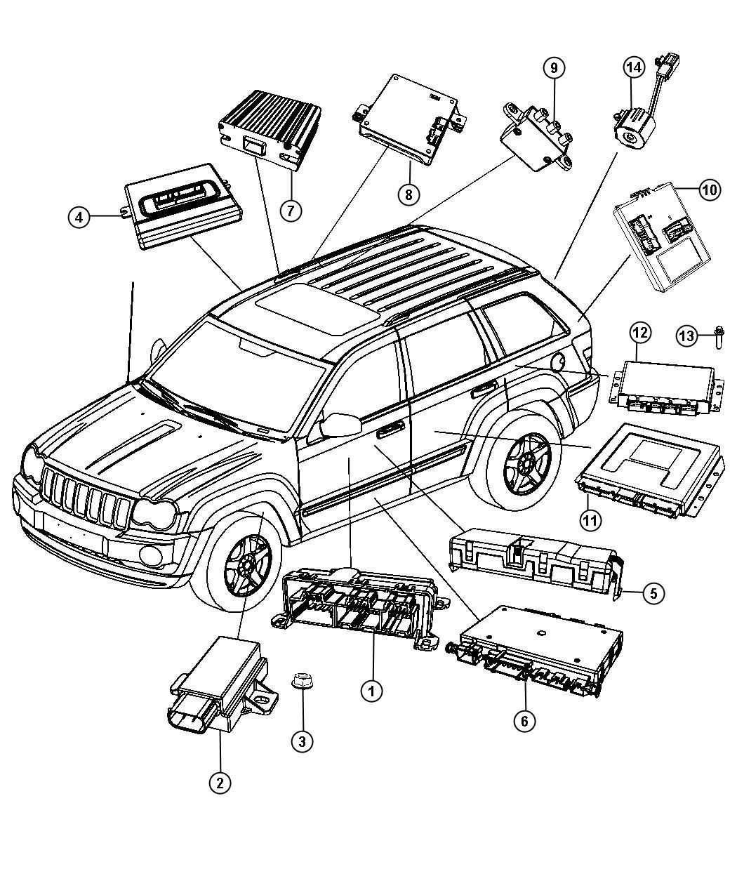 Jeep Grand Cherokee Module Transfer Case Control Rear