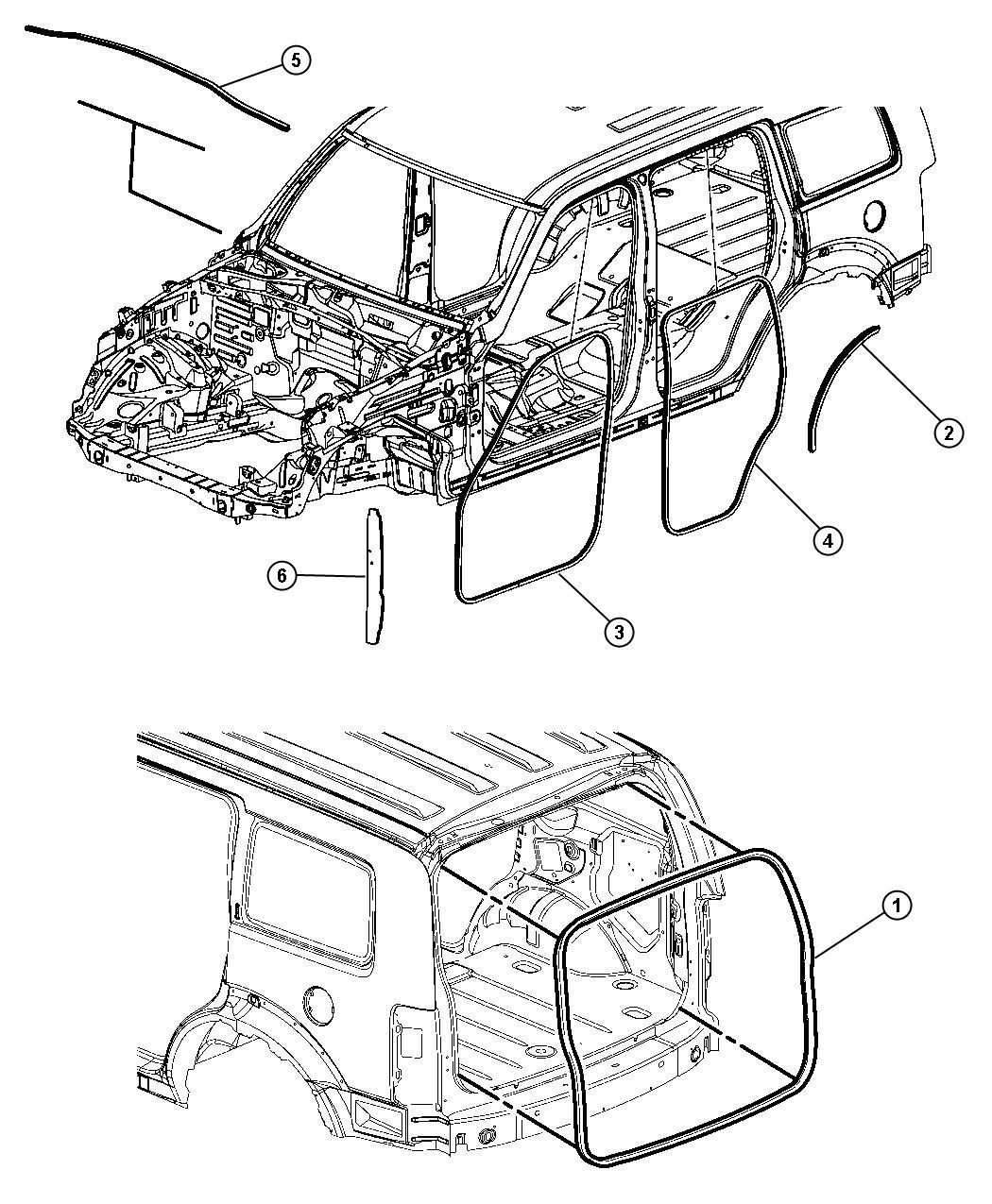 Jeep Liberty Seal Wheelhouse Weatherstrips Trim