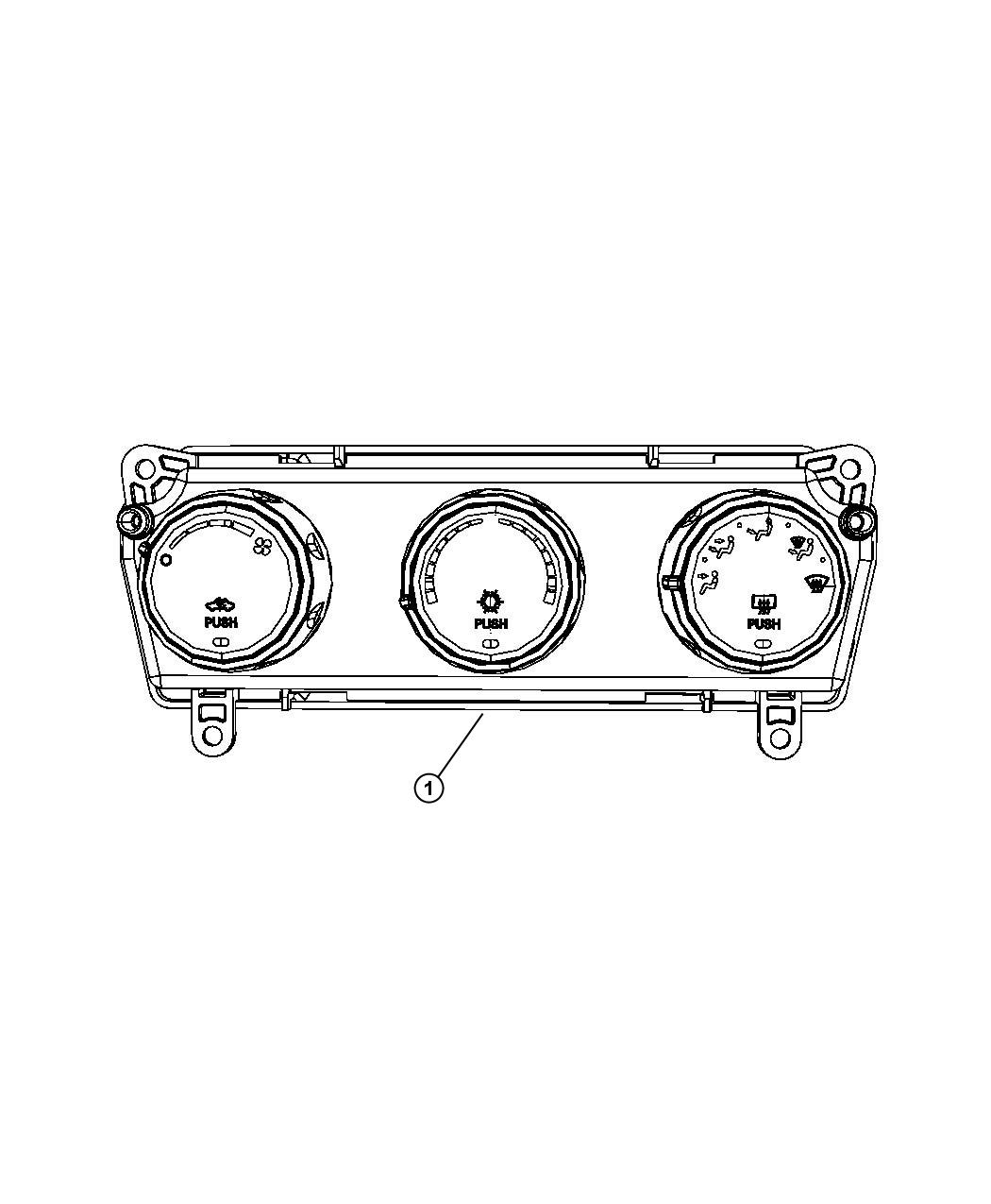 Jeep Liberty Control Used For A C And Heater Air
