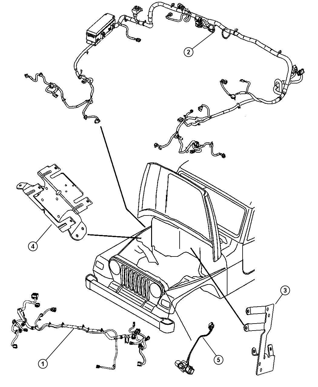 Jeep Wrangler Wiring Headlamp Front